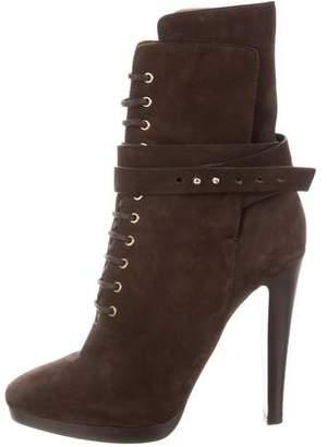 Giorgio Armani Lace-Up Ankle Boots
