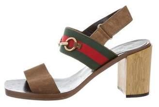 Gucci 2016 Horsebit Web Sandals