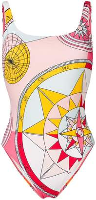 Tory Burch compass print swimsuit