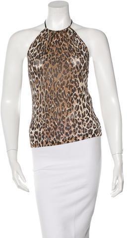 Dolce & GabbanaDolce & Gabbana Leopard Print Halter Top