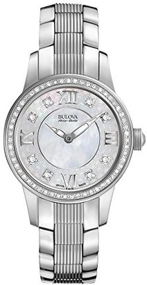 Bulova Women's Quartz Stainless Steel Dress Watch, Color:Silver-Toned (Model: 63R140) $699 thestylecure.com