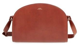 A.P.C. 'Sac Demi Lune' Leather Crossbody Bag $455 thestylecure.com