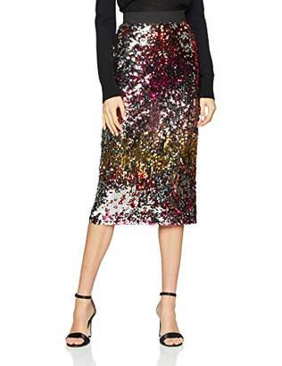 62531d2a0b Warehouse Women's Ombre Sequin Pencil Pencil Skirt,6 (Manufacturer Size:6)