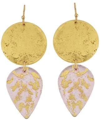 Evocateur 22K Gold Leaf Champagne Gala Earrings