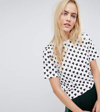 Daisy Street relaxed t-shirt in heart polka dot