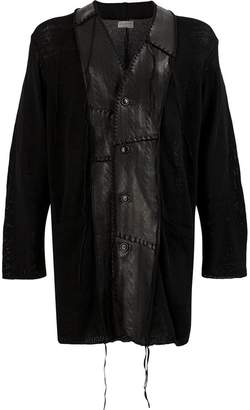 Yohji Yamamoto patchwork cardigan