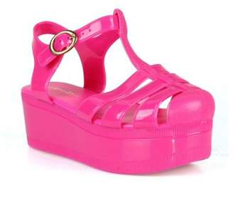 aef51dd72a2d Nature Breeze caged Jelly Platform Women's Sandals in Fuchsia