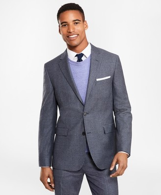 Brooks Brothers Two-Button Houndscheck Wool Twill Suit Jacket
