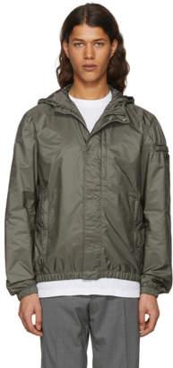 Prada Green Nylon Hooded Zip Jacket