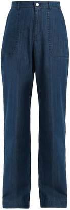 A.P.C. High-rise wide-leg jeans