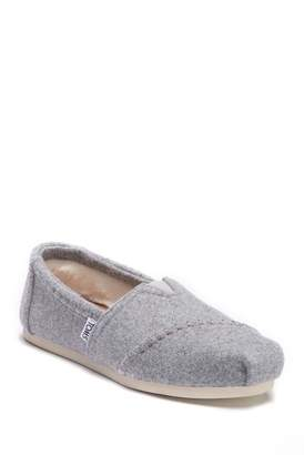Toms Drizzle Faux Fur Classic Alpargata Slip-On Sneaker (Women)