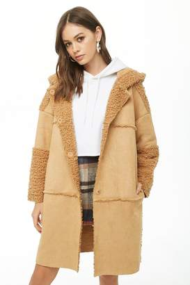 Forever 21 Faux Suede & Faux Shearling Coat