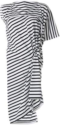 Junya Watanabe asymmetric striped dress
