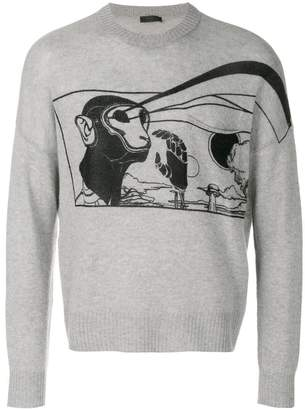Prada printed cashmere sweater