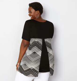Avenue Geo Chevron Splitback Top
