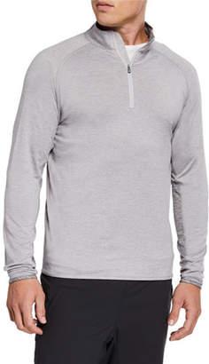 Peter Millar Men's Sydney Stretch Jersey Quarter-Zip Colorblock Sweater
