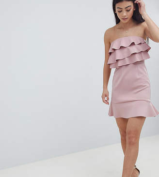 Asos DESIGN Petite ruffle shift dress with pephem