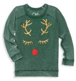 Chaser Little Girl's & Girl's Reindeer Sweatshirt