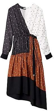 Tibi Women's Ant Polka Dot Patchwork Dress