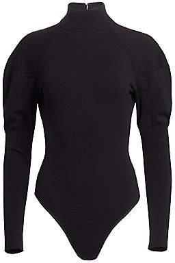 Alaia Women's Gigot Sleeve Turtleneck Bodysuit