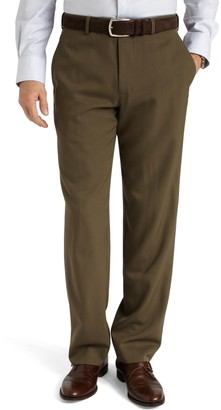 Brooks Brothers Regent Fit Plain-Front Classic Gabardine Trousers