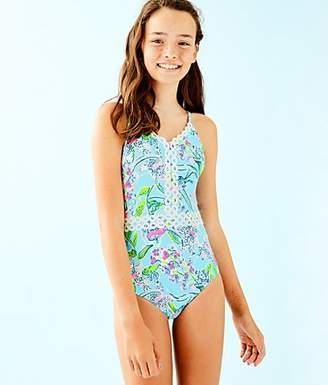 37b37cf781 Lilly Pulitzer UPF 50+ Girls Mals One Piece Swimsuit