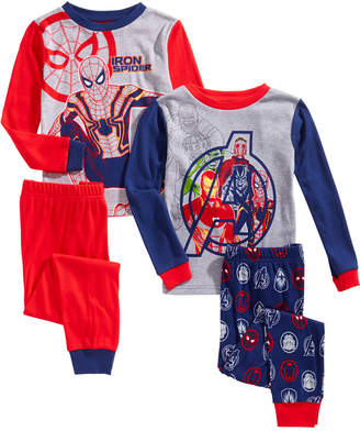 Marvel Little & Big Boys 4-Pc. Cotton Avengers Pajama Set