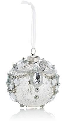 Winward Gem & Glitter-Embellished Mercury Glass Ball Ornament