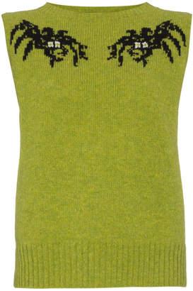 Prada Spider Motif Sleeveless Knitted Top