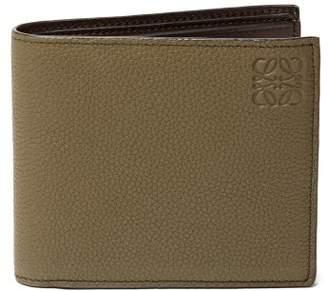 Loewe Grained Leather Bifold Wallet - Mens - Khaki