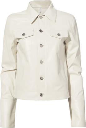 Helmut Lang White Leather Jacket