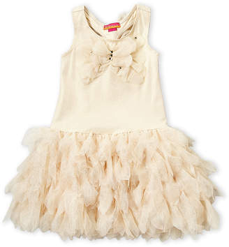 Kate Mack For Biscotti (Girls 4-6x) Gold Butterfly Tulle Dress
