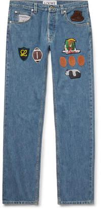 Loewe Slim-Fit Appliquéd Denim Jeans