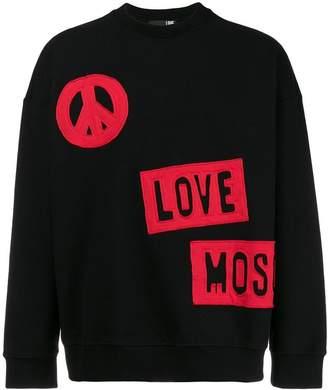 Love Moschino logo patch-work sweatshirt
