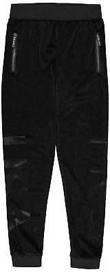 USA Pro Kids Girls Large Logo Velour Jogging Bottoms Junior Fleece Trousers