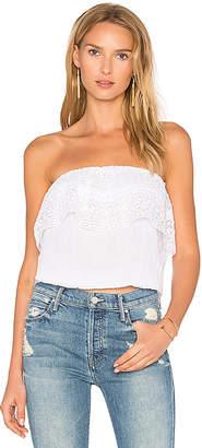 Michael Stars Blouson Lace Top in White $98 thestylecure.com