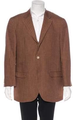 Brunello Cucinelli Striped Linen Blazer