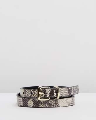 Topshop Snake Effect Skinny Belt