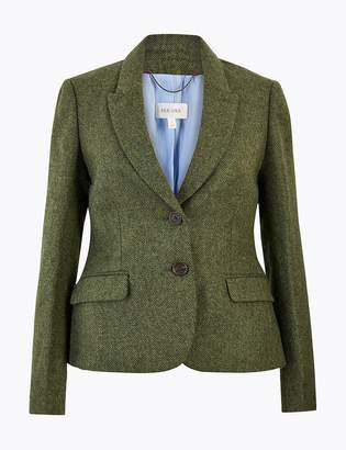 Marks and Spencer Pure British Wool Tweed Hacking Jacket
