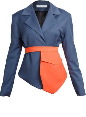 Lama Jouni Fitted Suit Jacket Size: M