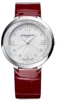 Baume & Mercier Promesse 10262 Stainless Steel& Alligator Strap Watch