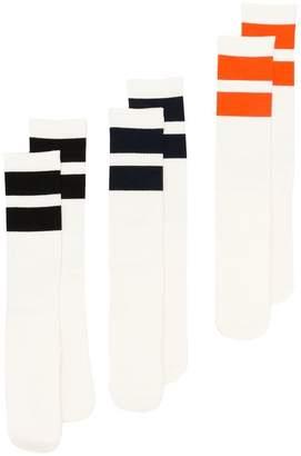Neighborhood three-pack striped socks