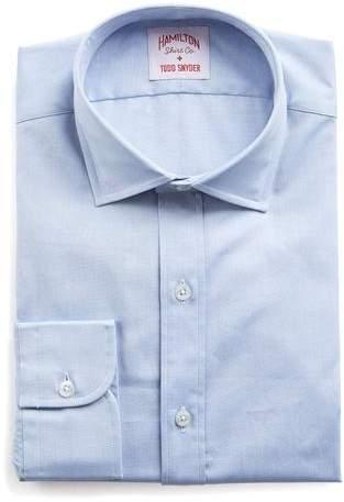Hamilton Blue Solid Pinpoint Shirt