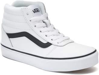 Vans Ward Hi Kids Leather High-Top Skate Shoes