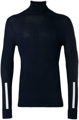 Neil Barrett stripe detail turtleneck sweater