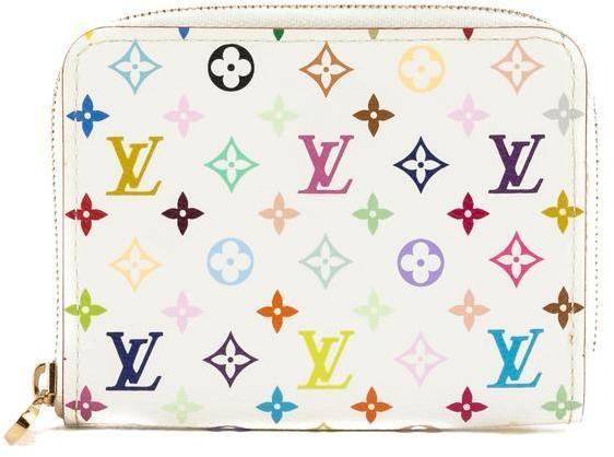 Louis VuittonLouis Vuitton White Monogram Canvas Multicolore Zippy Coin Purse (Pre Owned)