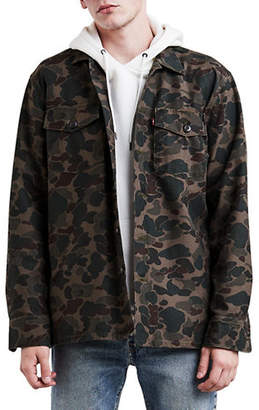 Levi's Military Camo Button-Front Shacket