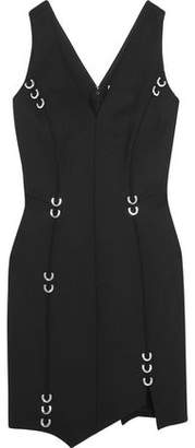 Thierry Mugler Embellished Stretch-Wool Mini Dress