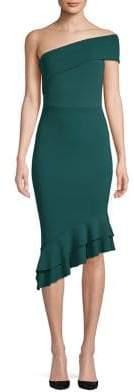 Quiz Ruffled One-Shoulder Bodycon Dress