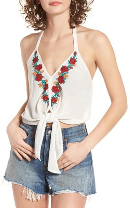 Women's Band Of Gypsies Embroidered Halter Top $43 thestylecure.com